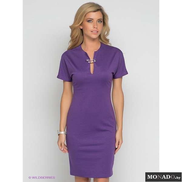 Красивый вырез горловины на платье футляр