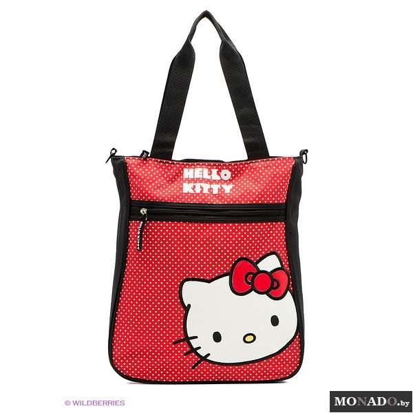 Hello kitty черная сумка